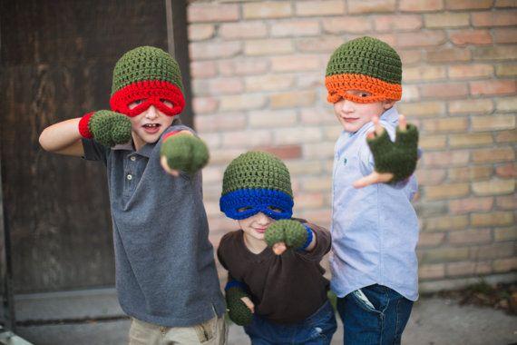 Teenage Mutant Ninja Turtles Hats. Crochet