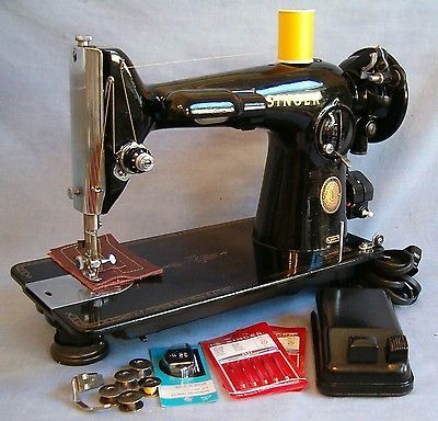 REFURBISHED Singer 40 Sewing Machine Upholstery Leather NEW WIRING Adorable Antique Singer Upholstery Sewing Machine
