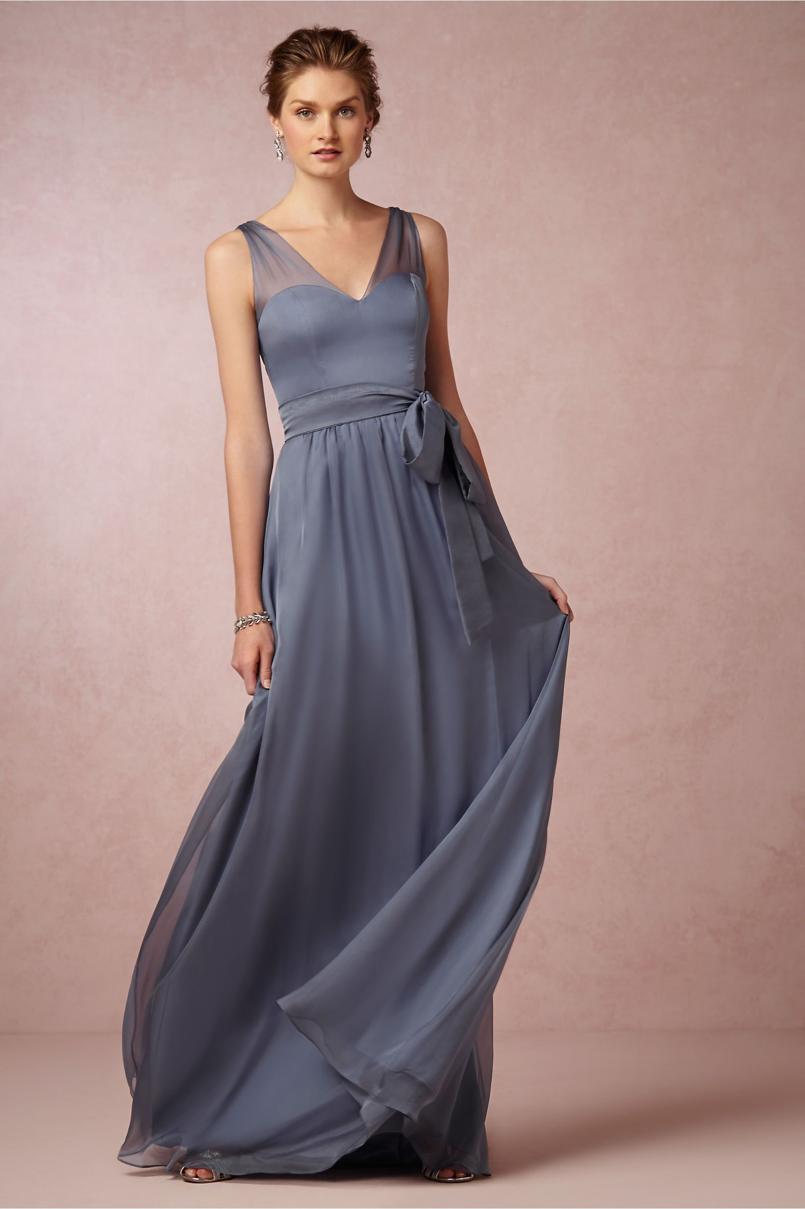Josephine Dress in steel blue from BHLDN | Bridesmaid Dresses ...