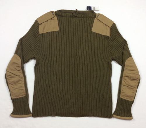 Vintage-Polo-Ralph-Lauren-Men-Military-Army-Patchwork-Cotton-Knit-Sweater-XL c0e4de38588