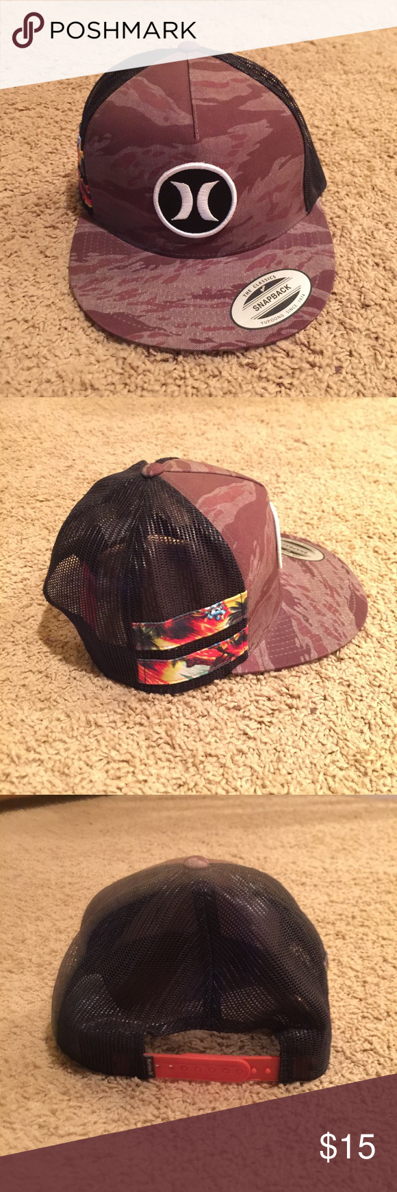 Hurley SnapBack Hat Hurley The Classics SnapBack. In great condition only  wore a couple times. No stains. Hurley Accessories Hats  e48860009d12