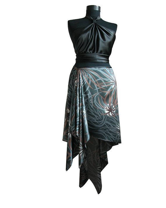 A single layered tango skirt with side and back by TheGiftofDance
