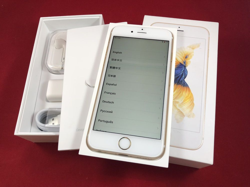 NEW Apple iPhone 6S 64GB Gold White Unlocked A1633 GSM in
