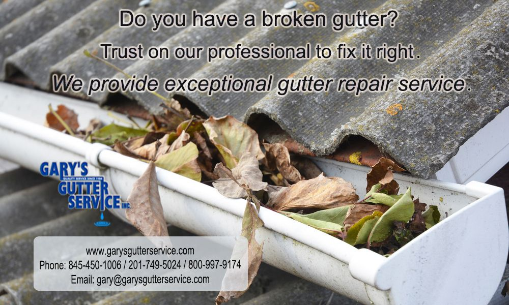 Do You Have A Broken Gutter Trust On Our Professional To Fix It Right We Provide Exceptional Gutter Repair Service Gutter Repair Gutter Gutter Services