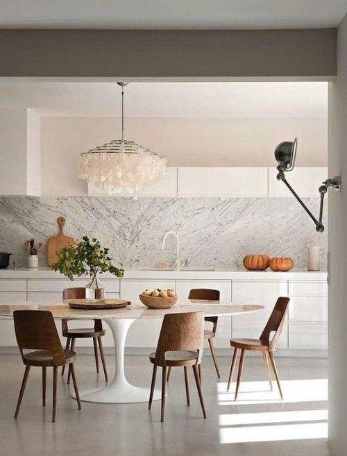 Witte Tafel Rond.Marmeren Ronde Eettafel Home Decor Interior Design Kitchen Home