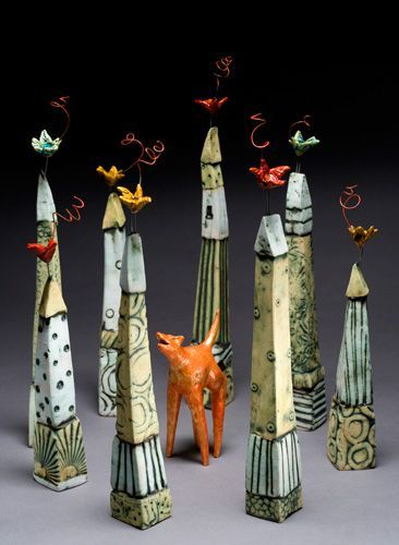 Lisa Muller handbuilt Earthenware clay work:  Click on picture to see her other work!: