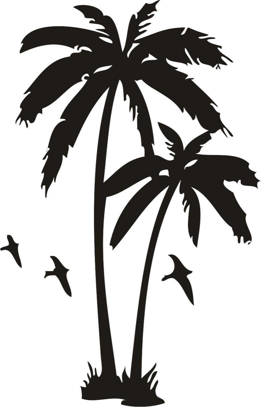 Buy White and Black palm trees tattoos pictures trends