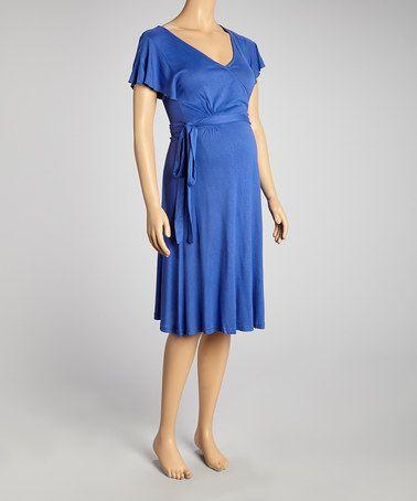 Look what I found on #zulily! Royal Blue Maternity Wrap Dress #zulilyfinds