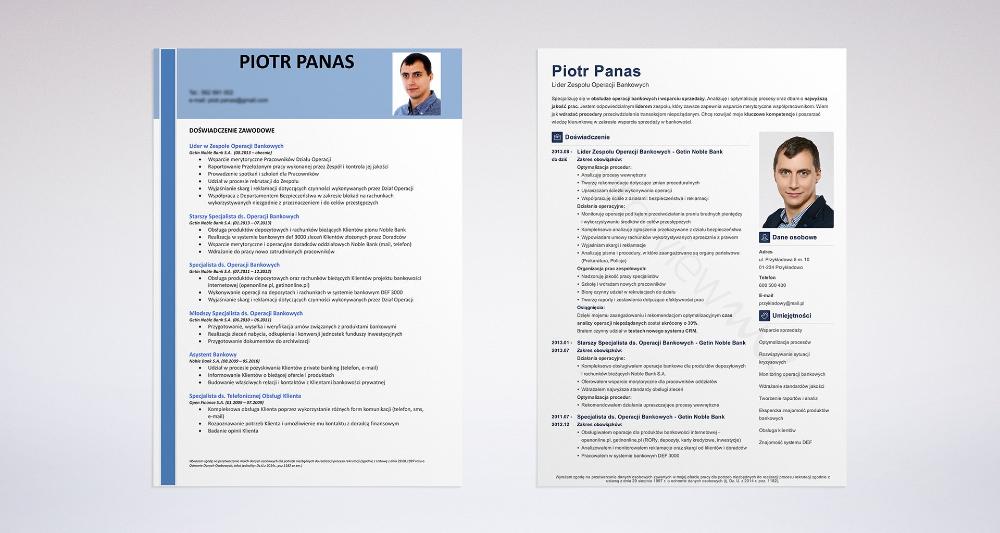 Profesjonalne CV 4 przykłady CV kandydatów