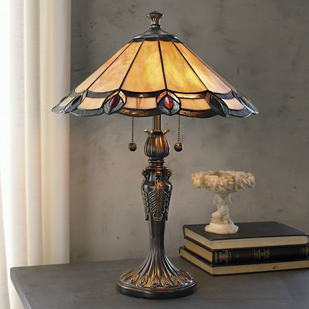 Dale Tiffany Aldridge Peacock Table Lamp Products Stained Glass