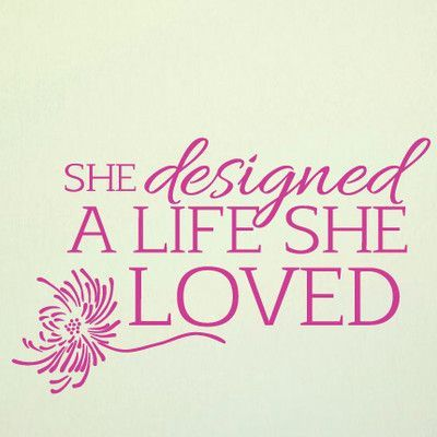 SweetumsWallDecals A Life She Loved Wall Decal Color: Hot Pink