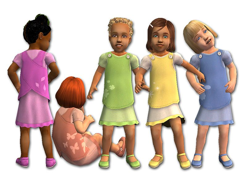 Mod The Sims Crossover Smocks Sims 2 Toddler Female