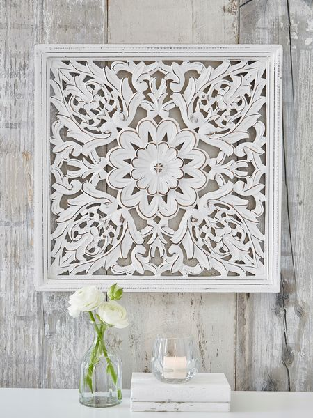 Carved Wall Panel Design FM #nordichouse #carved #wood KD - paneles para pared