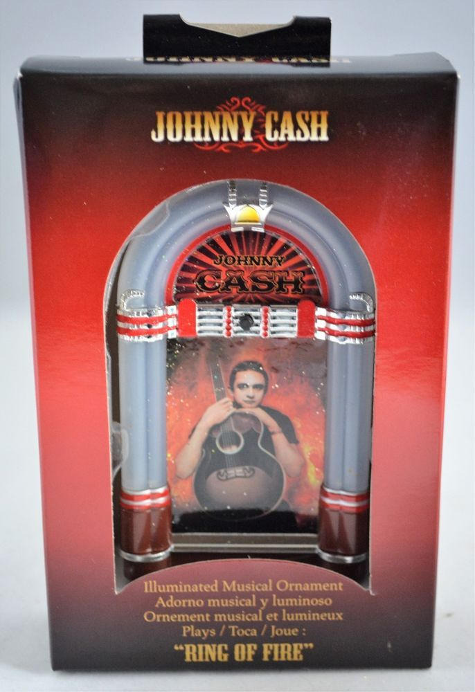 Johnny Cash Ring of Fire Musical Jukebox Christmas Ornament - Johnny Cash Ring Of Fire Musical Jukebox Christmas Ornament