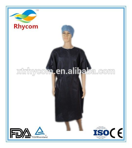 2017 New Disposable Short Sleeve Disposable Hospital Gowns Reusable ...