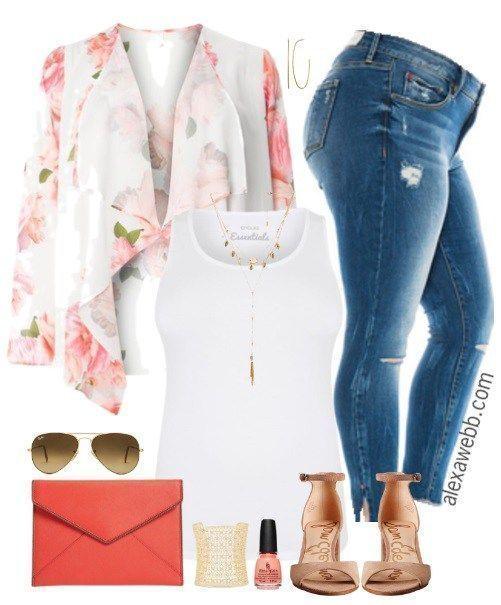 Plus Size Kimono Outfit - Plus Size Spring Summer Outfit - Plus Size Fashion for Women - alexawebb.com #alexawebb