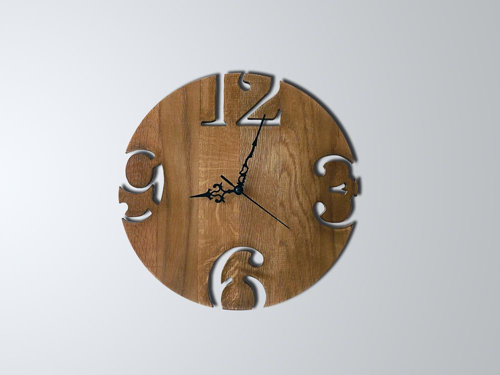 Orologio da muro moderno legno rovere design shabby for Orologio da muro shabby