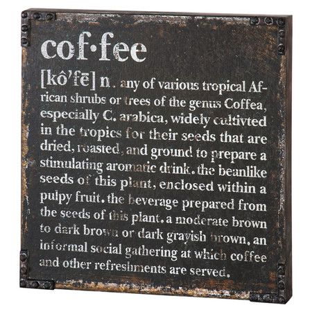 shop joss main for your coffee defined wall decor showcasing a distressed finish and typographic motif this eye catching metal wall decor brings - Distressed Cafe Decor