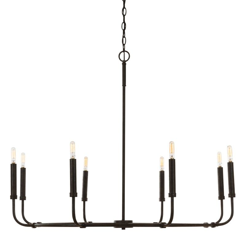 Capital Lighting 432882 8 Light 38 Wide Chandelier Mineral Brown