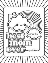 Best Mom Ever Kiddo Crafts Pinterest Kawaii Adult coloring