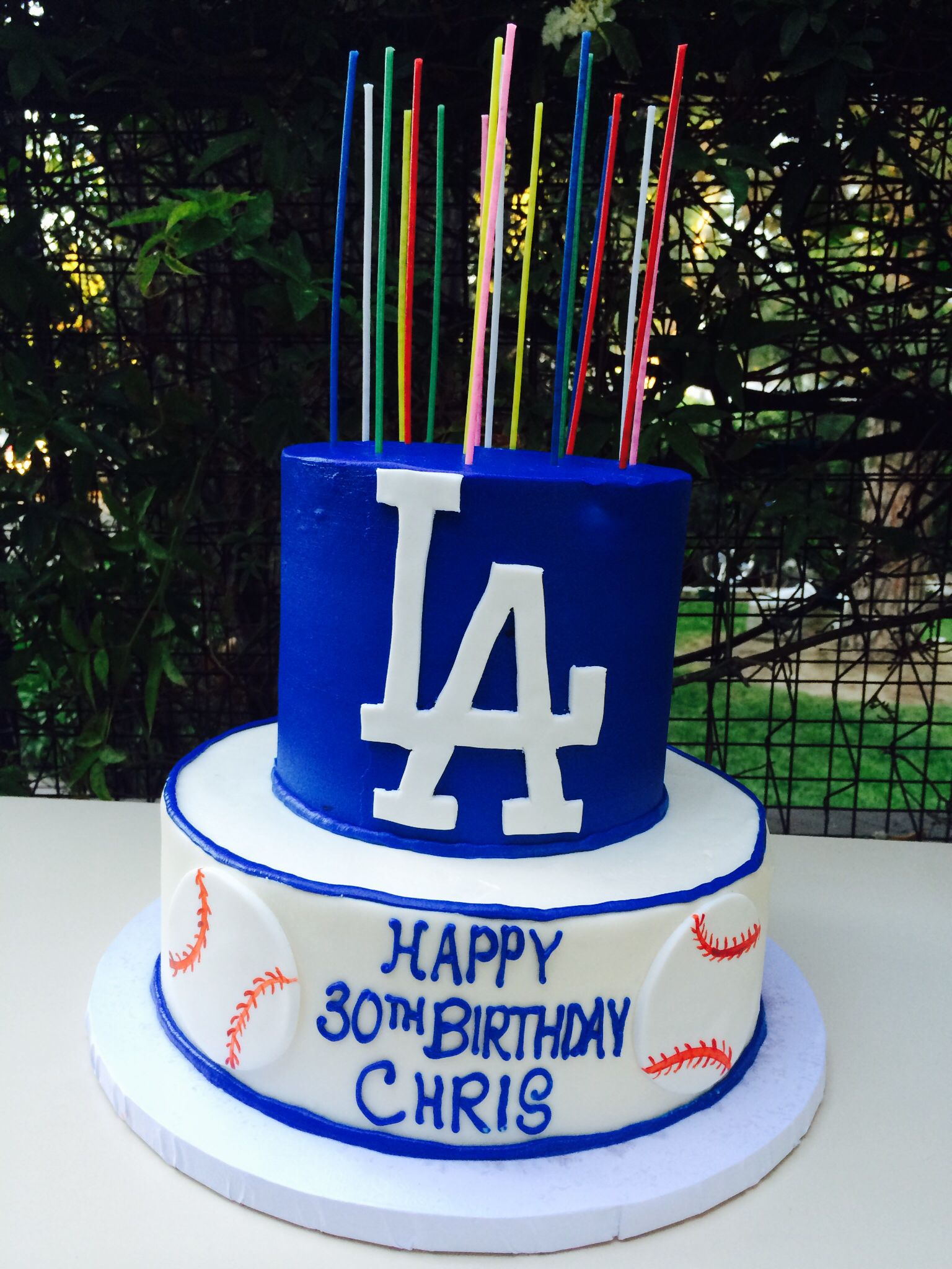 Los Angeles Dodgers Cake Created By Skiff S Cakes In Simi