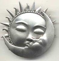 Sun Kissed Moon Pin