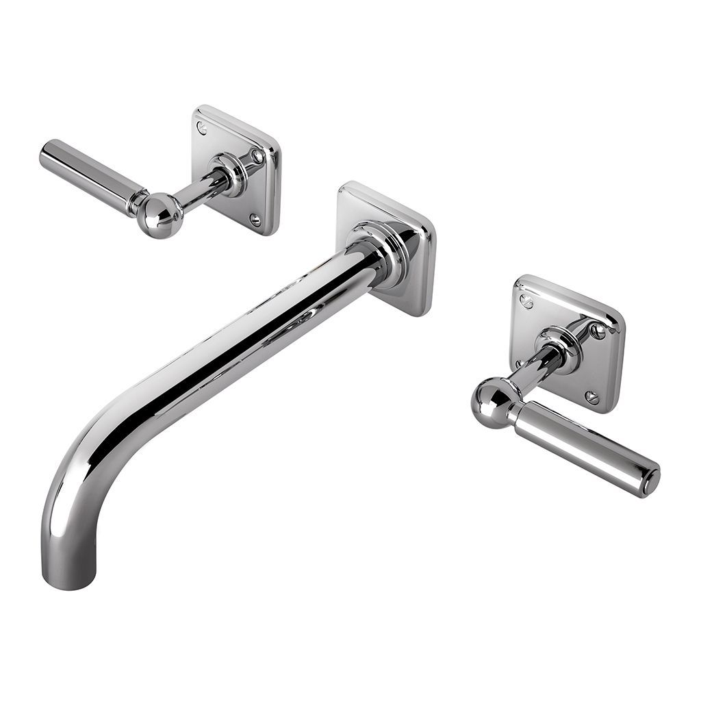 Ludlow Low Profile Three Hole Wall Mounted Lavatory Faucet With