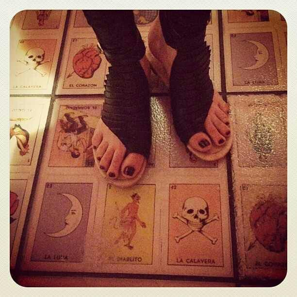 Mexican loteria card floor tiles a home is not just a for Decorative tarot cards