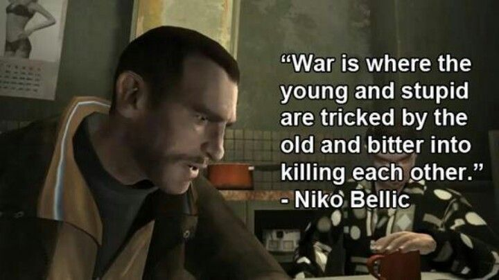 Niko Bellic Video Game Quotes Game Quotes How To Memorize Things