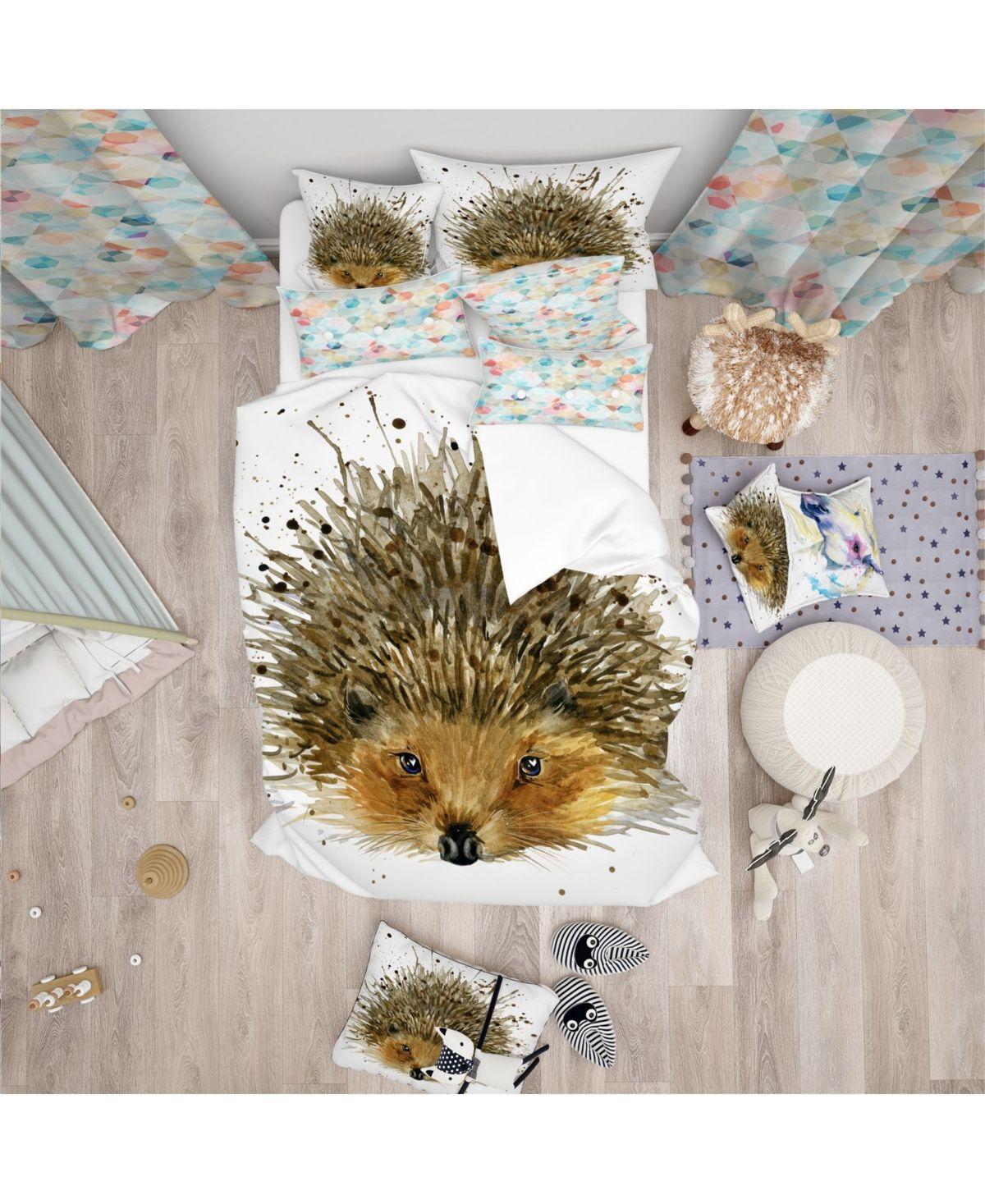 Designart Hedgehog Illustration Watercolor Modern And