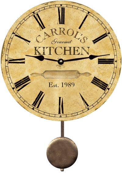 Personalized Kitchen Clocks | Kitchen | Pinterest | Kitchen wall ...