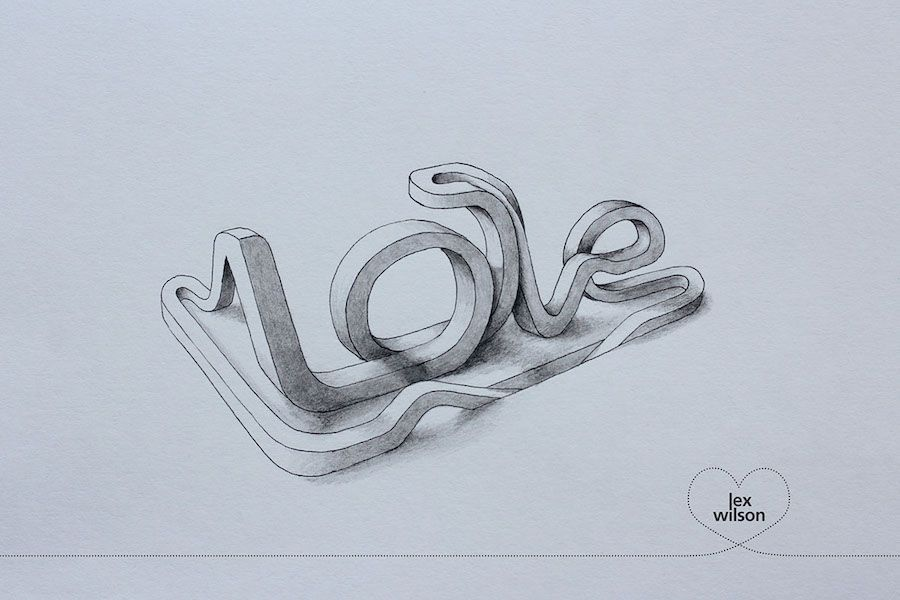 Amazing 3D Typography by Lex Wilson #3dtypography