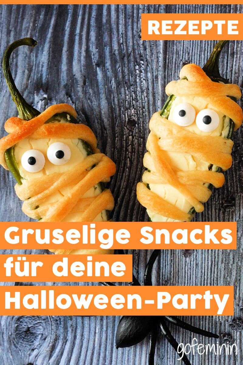 3 Snack-Ideen für deine Halloween-Party #halloweencraftsforkids