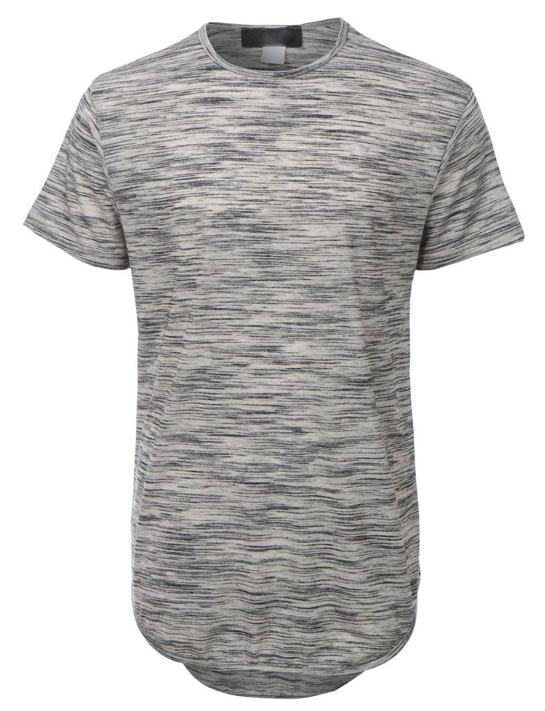 Mens lightweight short sleeve longline t shirt clearance male
