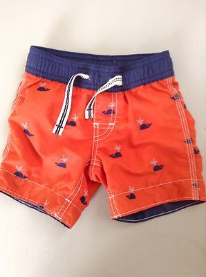 7c31171517 Baby GAP Boys Orange & Blue WHALE Swim Trunks Bottoms 6-12 Months | eBay