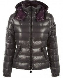 5181bea68571 Moncler Women Bady Hooded Down Jackets Dim gray with Hat on sale ...