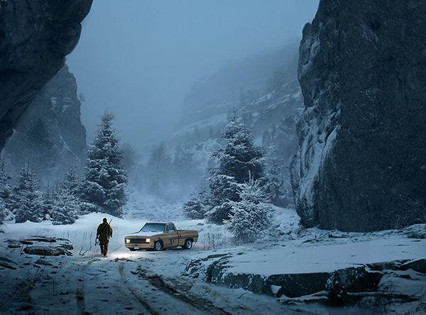 Snow Landscape Concept Art
