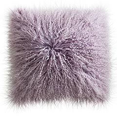 traditional white bed and fluffy pillows in cool teen bedrooms | Fun lavender Mongolian wool pillow. Pier One Imports ...