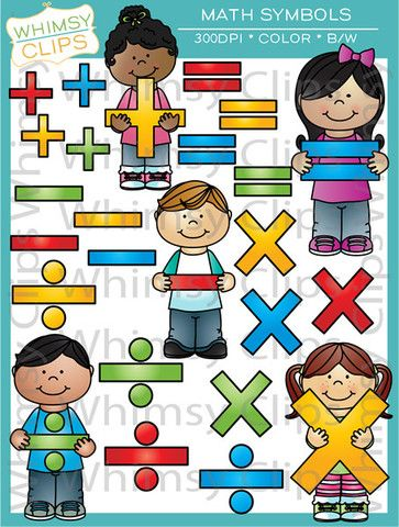 Math Kids Math Symbols Clip Art Pinterest Colour Images White