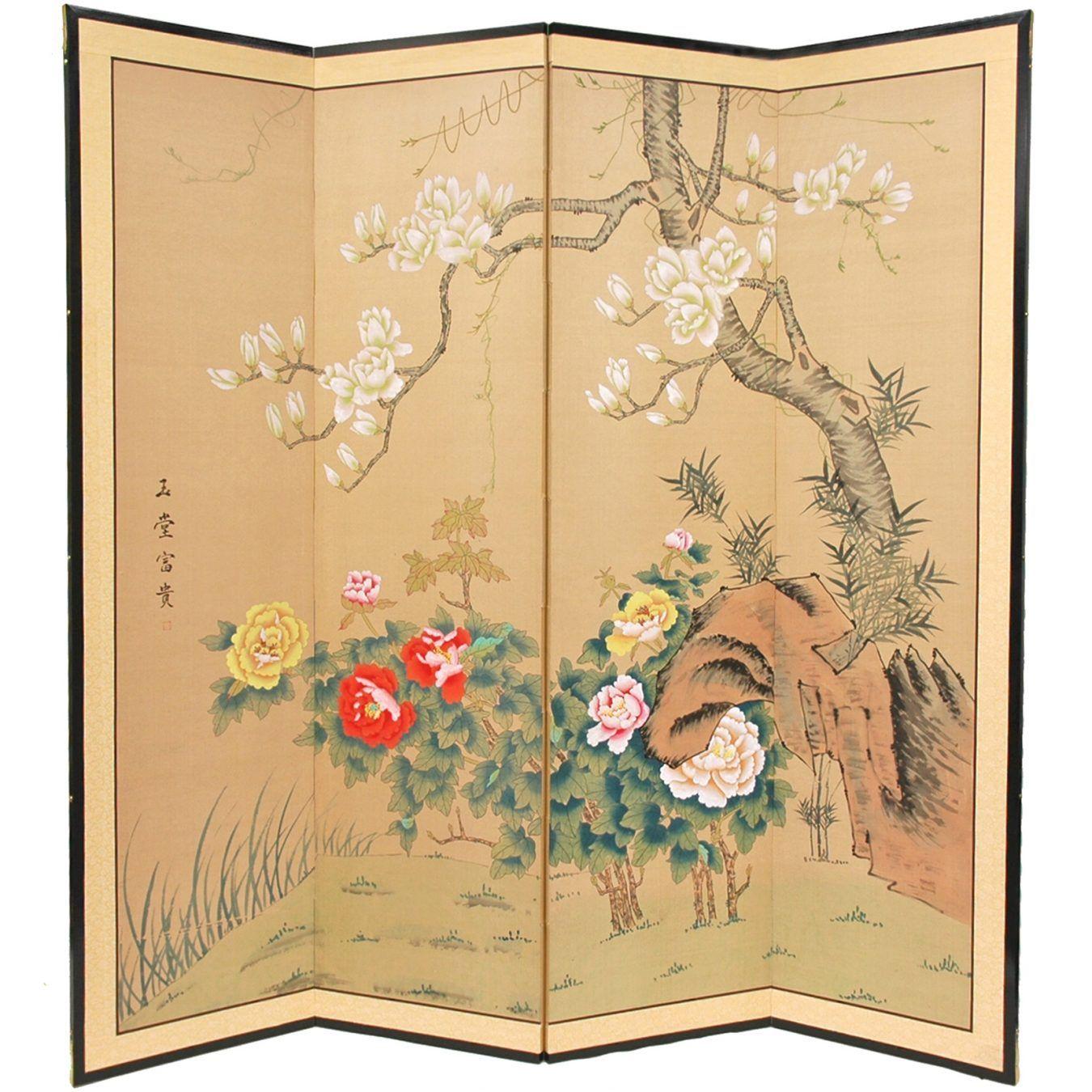 Harmony in Nature Silk Screen - OrientalFurniture.com | bedroom ...