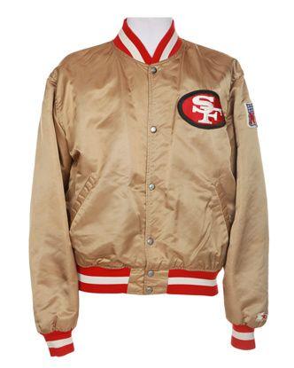 online retailer 3d8b0 ccb1d 80s NFL Gold & Red San Francisco 49ers Coach Jacket - XXL ...