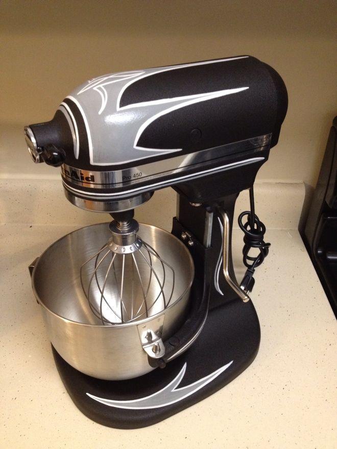 Kitchenaid Mixer, but faster.  I'm pretty happy I finally got around pinstriping this beauty.