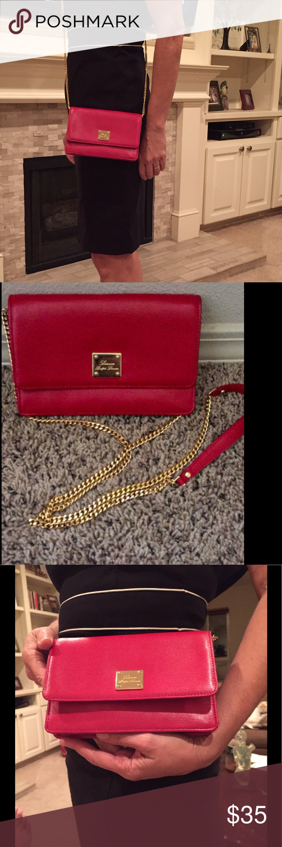 643a876b782 Ralph Lauren purse Beautiful red,can be use as cross body,shoulder or clutch