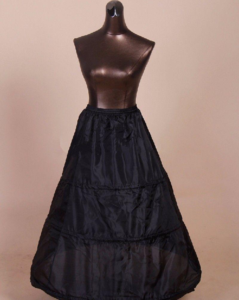 Little black dress for wedding party  Long Black Petticoat Skirt Crinoline Hoop Black Underskirt A Line