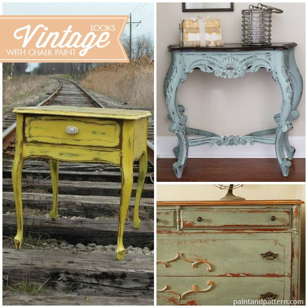 Vintage style furniture painting with Chalk Paint® decorative paint. Pretty  pics via Paint and - Vintage Style Furniture Painting With Chalk Paint® Decorative