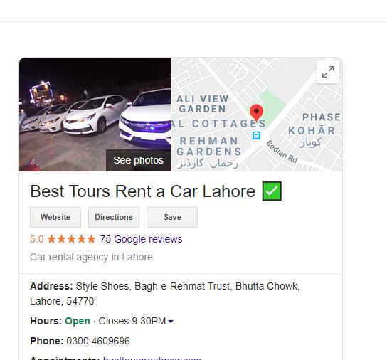 Best Tours Rent A Car Lahore Rent A Car Car Rental Tours