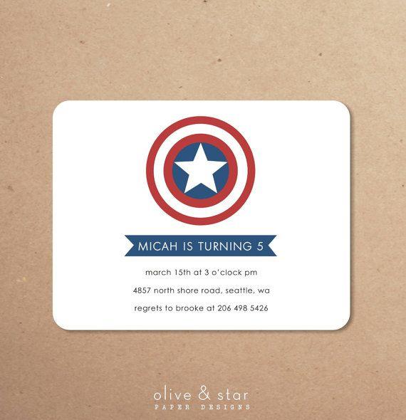captain america inspired    kids birthday by OliveandStar on Etsy