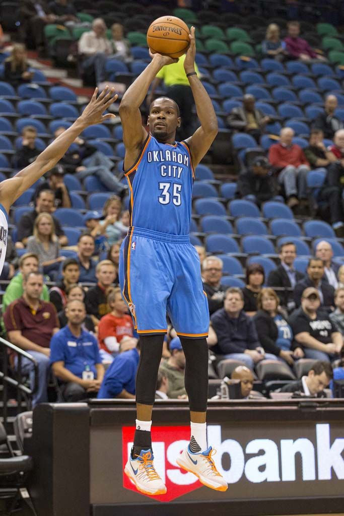 672ead863c3 ... low cost kevin durant wearing the okc nike kd 8 e26a2 6bb9d