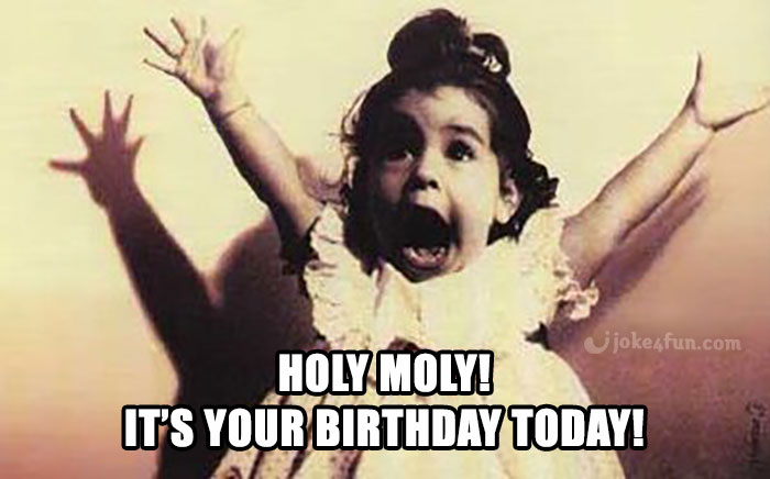 Joke4fun Memes Holy Moly Birthday Memes For Her Sarcastic Birthday Wishes Sarcastic Birthday
