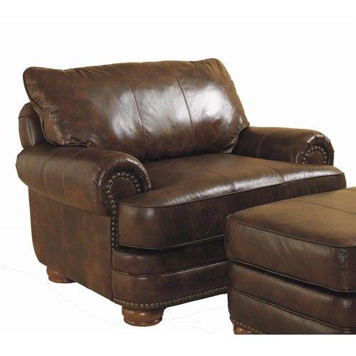 Lane Chocolate Leather Sofa With Nailhead Trim | Home U003e Living Room U003e  Upholstered Chair U003e Lane Stanton Stationary Chair